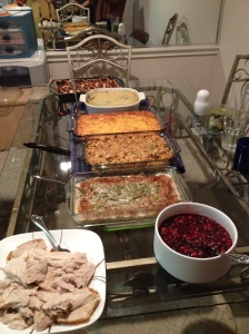 Homemade Traditional Thanksgiving food! Yum!