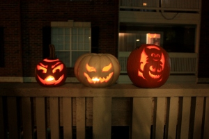 1st, 2nd, 3rd place pumpkins.
