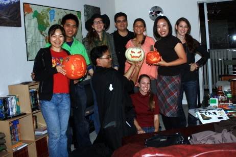 Half of the guests at our Pumpking Carving Party
