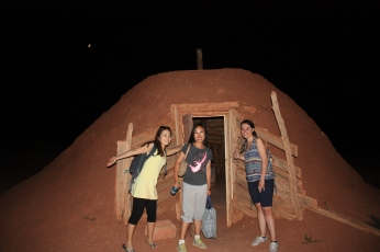 Staying in a traditional Navajo hogan for the night